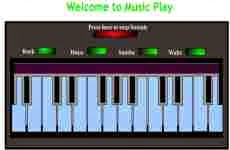 Music Play: permite tocar un piano virtual online