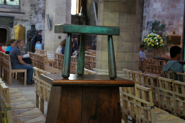 Taburete de Jenny Geddes en la Catedral de St. Giles