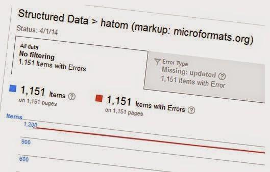 Error datos estructurados herramientas webmaster