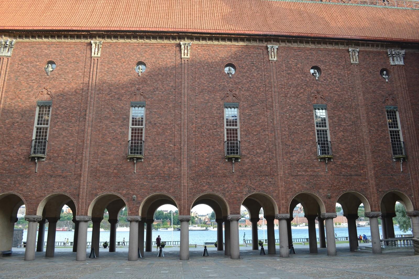 Architecture of Stadshuset city hall Stockholm
