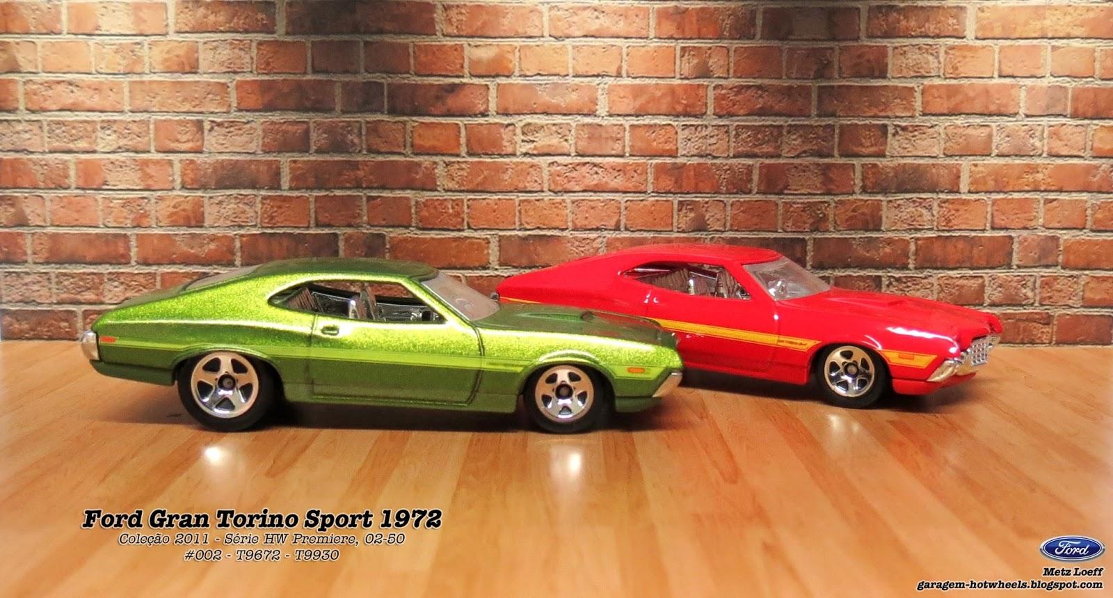 Garagem Hot Wheels Ford Gran Torino Sport 1972 1975