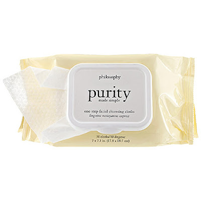 Philosophy, Philosophy Purity Made Simple One-Step Facial Cleansing Cloths, cleansing wipes, face wipes, cleanser, skin, skincare, skin care, the best travel beauty products
