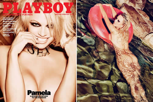 Pamela Anderson nua na Playboy de Fevereiro dos EUA