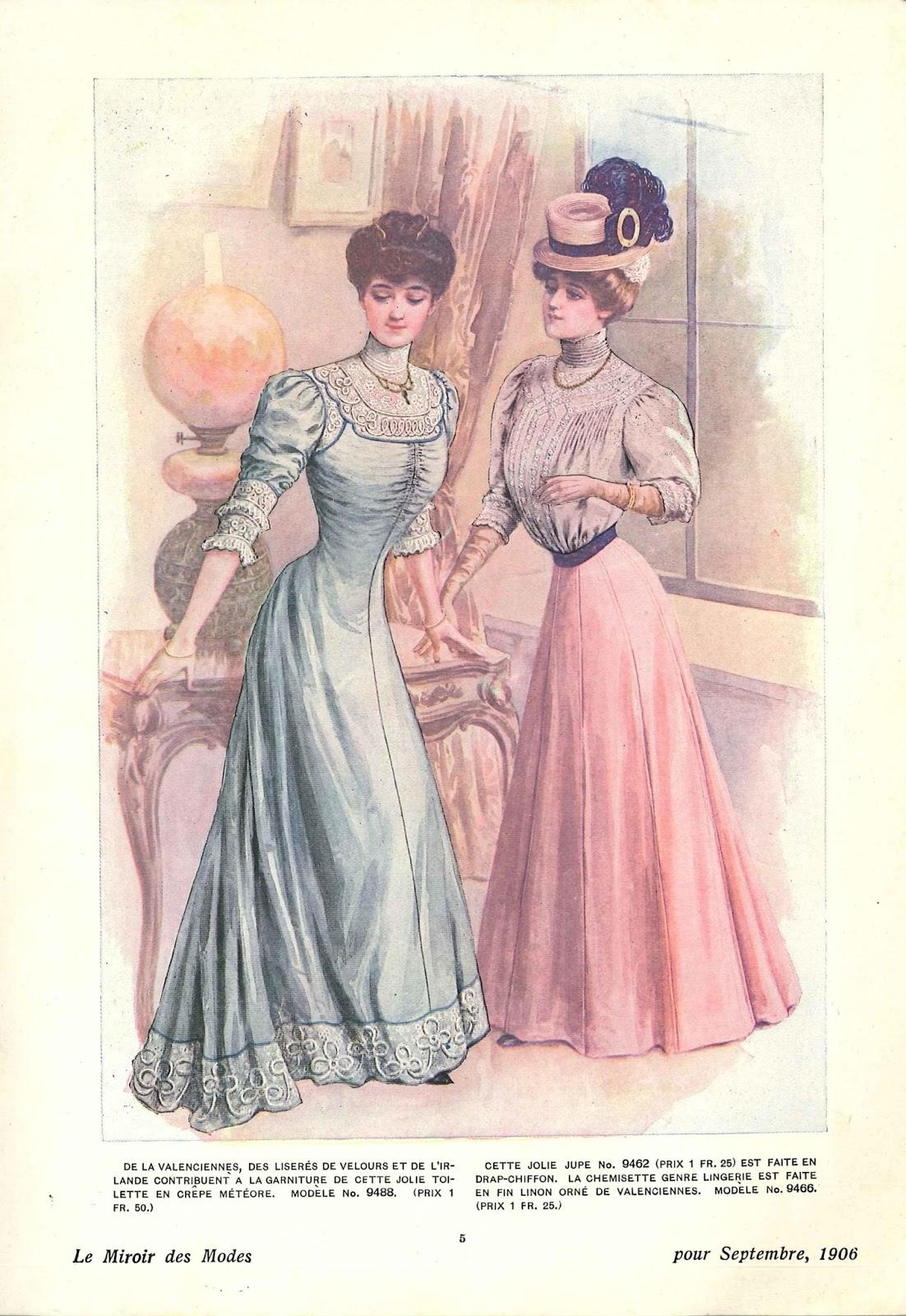 Des modes le miroir des modes septembre 1906 for Miroir des modes