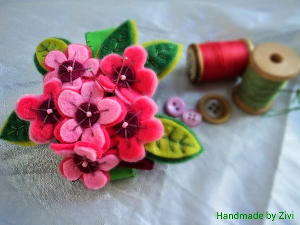 Imagenes De Flores Hechas Con Fieltro - Manualidades con flores para el Día de la Madre hechas