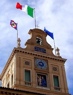 L'orologio della torre del palazzo del Quirinale
