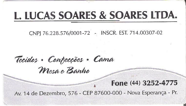 L. Lucas Soares & Soares LTDA.