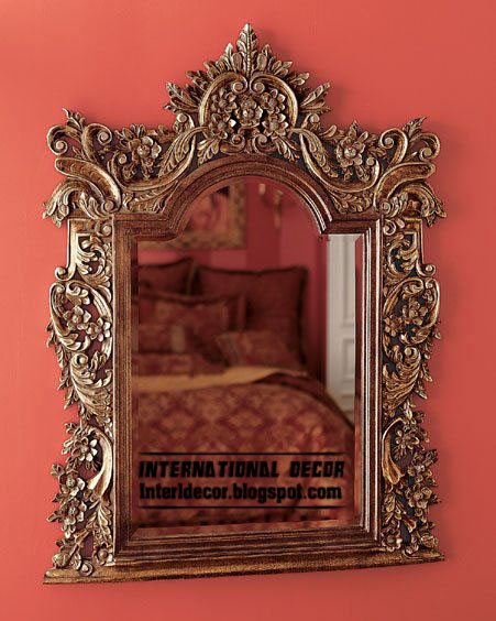 classic mirror frame for wall decoration Classic mirror frames golden for wall decorating