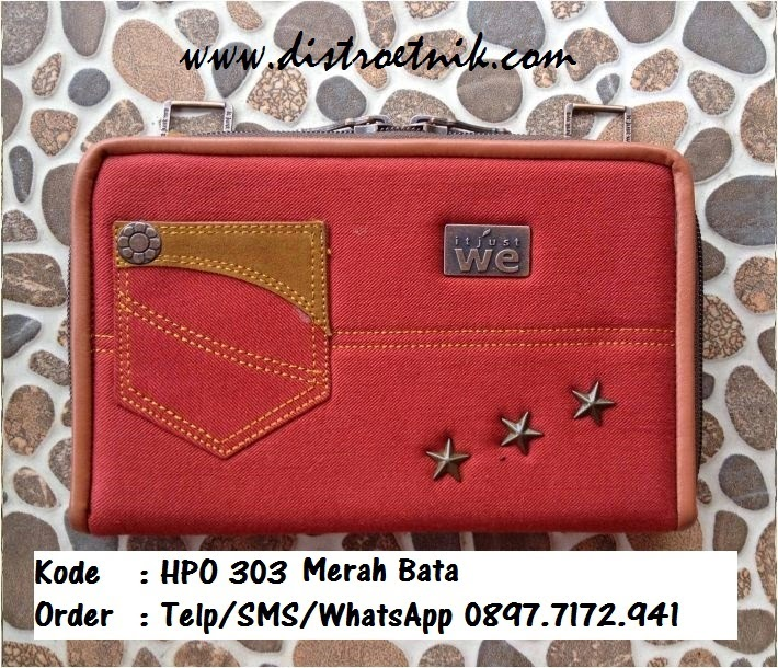 dompet jeans it jus we hpo 303 series merah bata