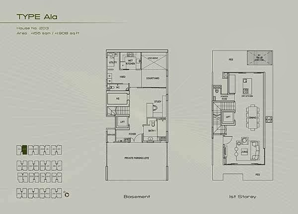 Type A1a first floor floor plans