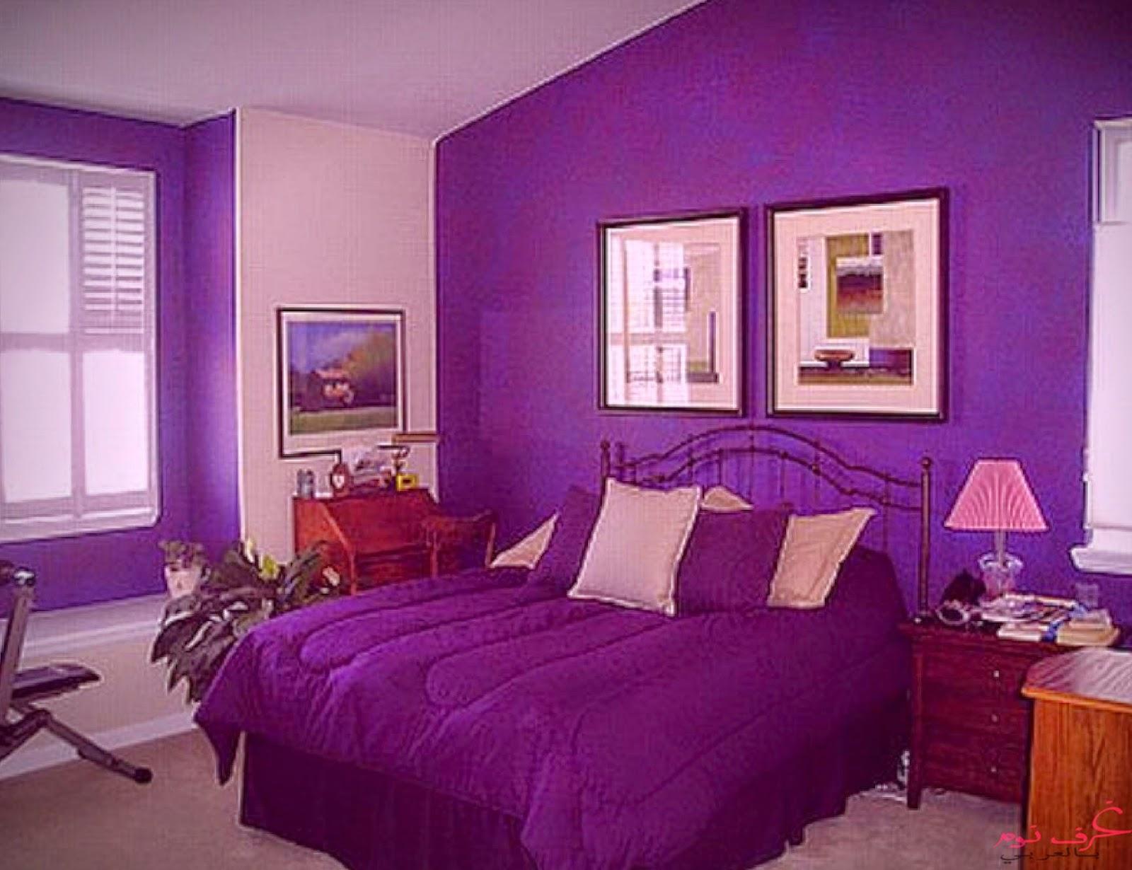 تصميمات غرف نوم الاطفال باللون البنفسجي | مجلة | غرف نوم