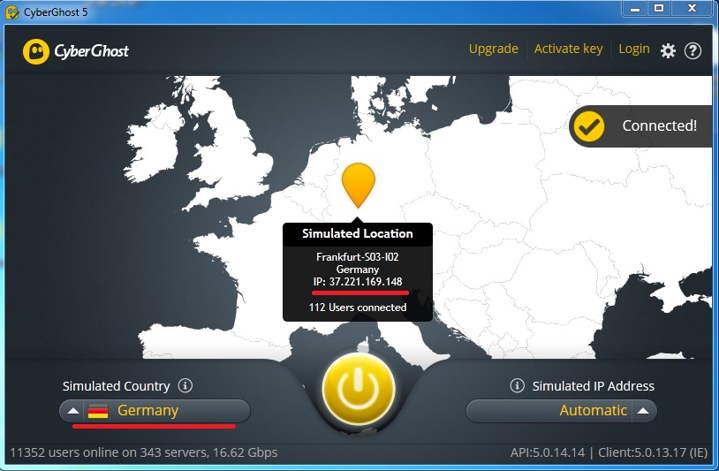 من أفضل البرامج لتغيير الآي بي IP واستخدام بروكسي كثير من الدول دون التأثير على سرعة الإنترنت لديك cyberghost