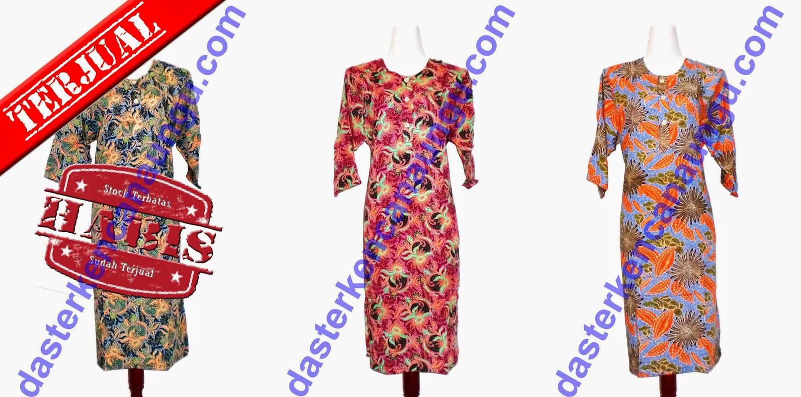 Harga Jual Baju Tidur Batik Kencana Ungu Setelan Babydoll Daster Jumbo Label Biru Online 19