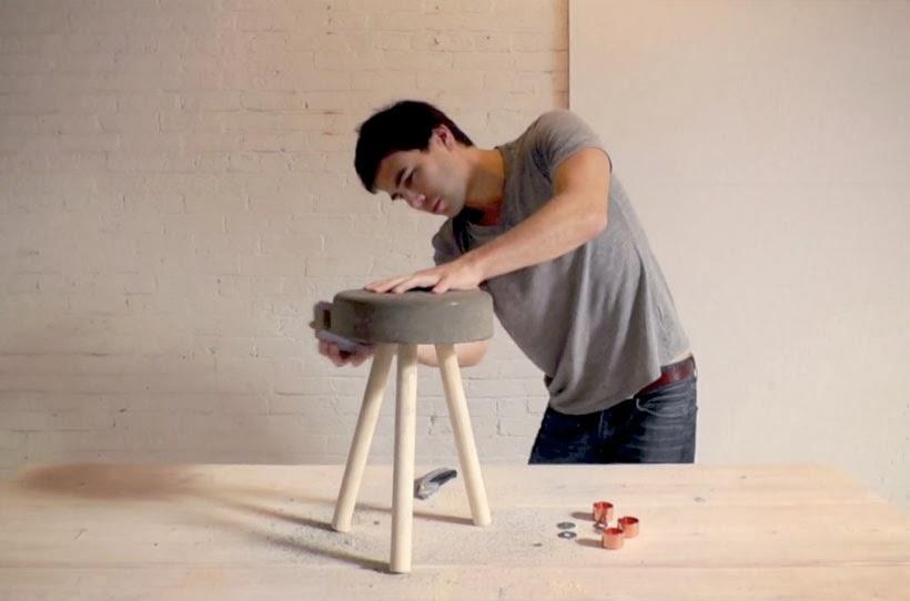 تنعيم القعدة الاسمنتية للكرسي