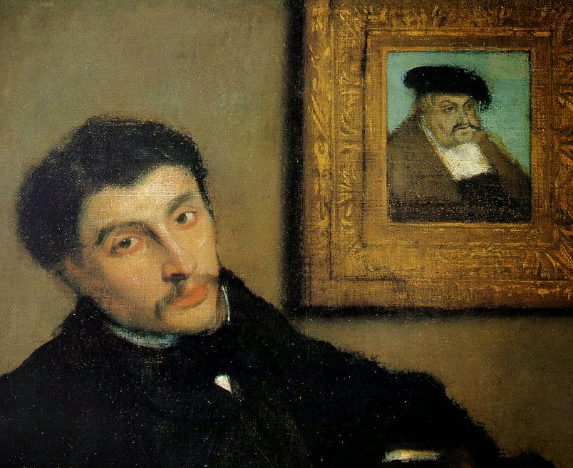 Edgar Degas - Portrait of James Tissot, 1867-68