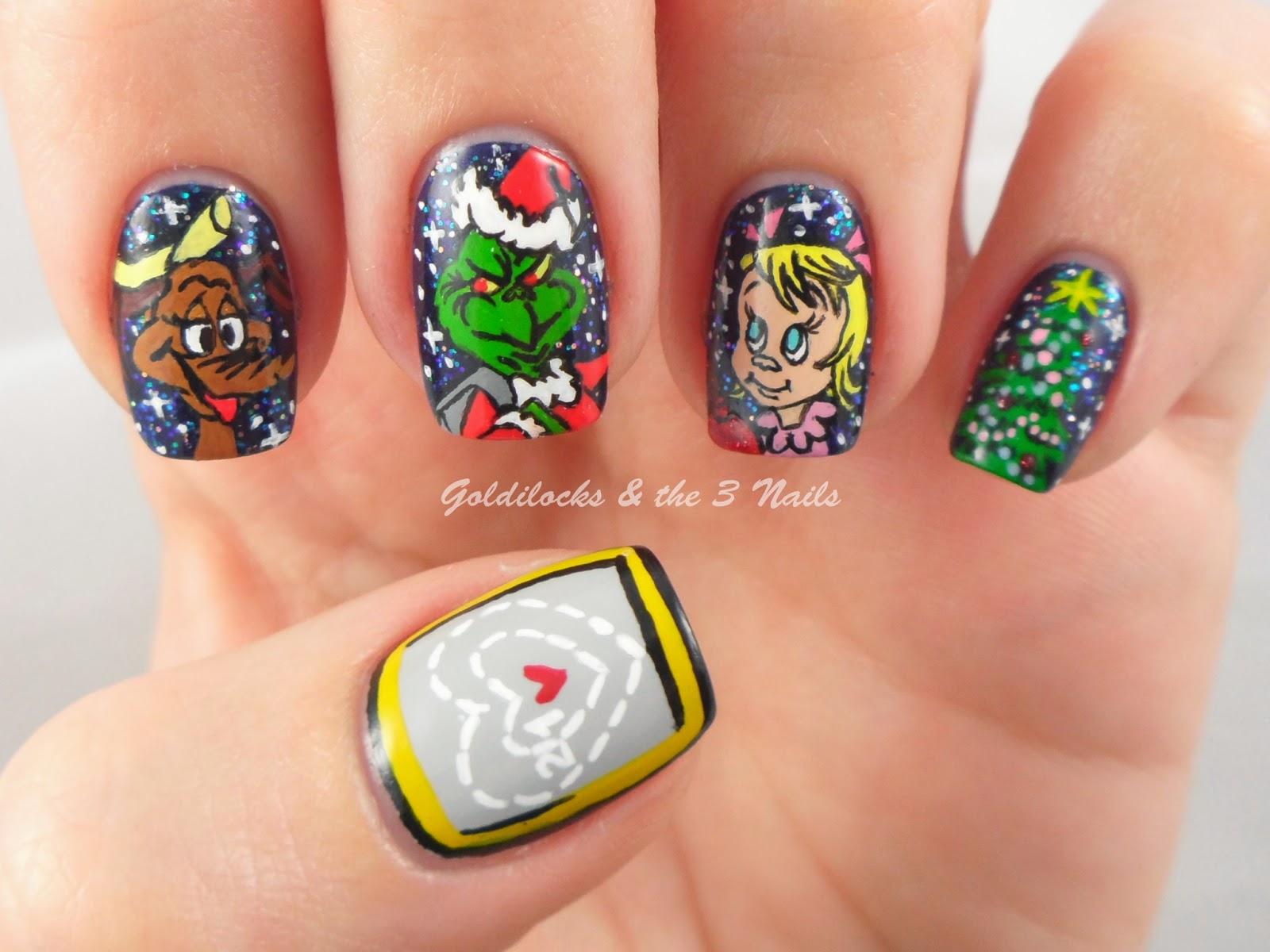Goldilocks The Three Nails How The Grinch Stole Christmas Nail Art