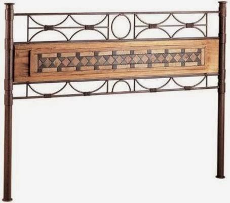Muebles de forja dormitorios forja y madera r sticos - Cabeceros de cama rusticos ...