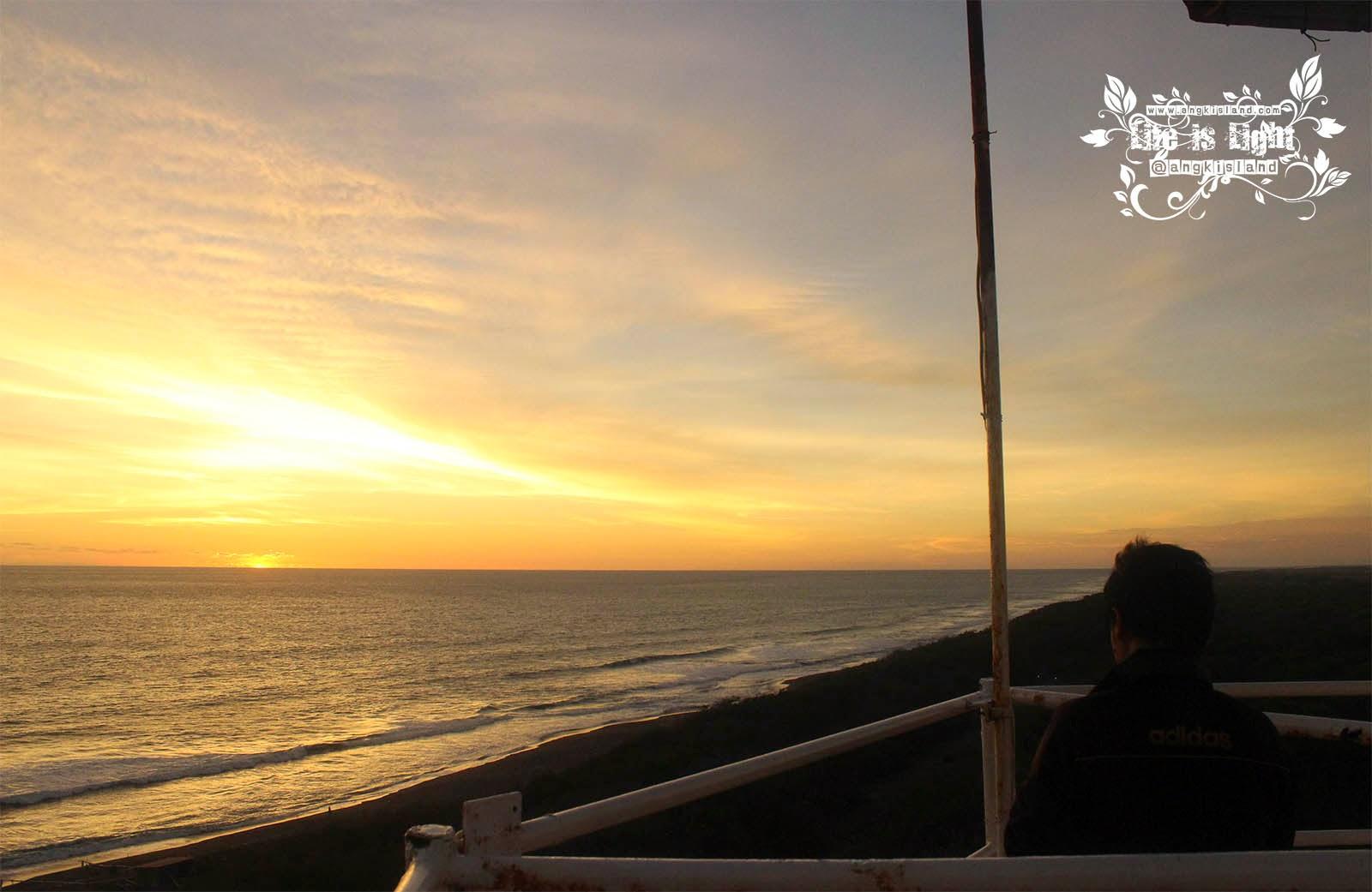 sunset pantai samas bantul