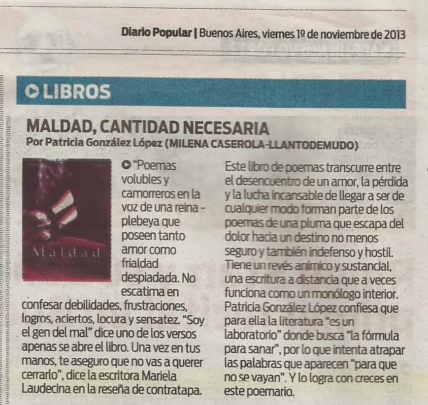 Maldad en Diario Popular