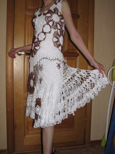 модной! вязаные платья крючком купить