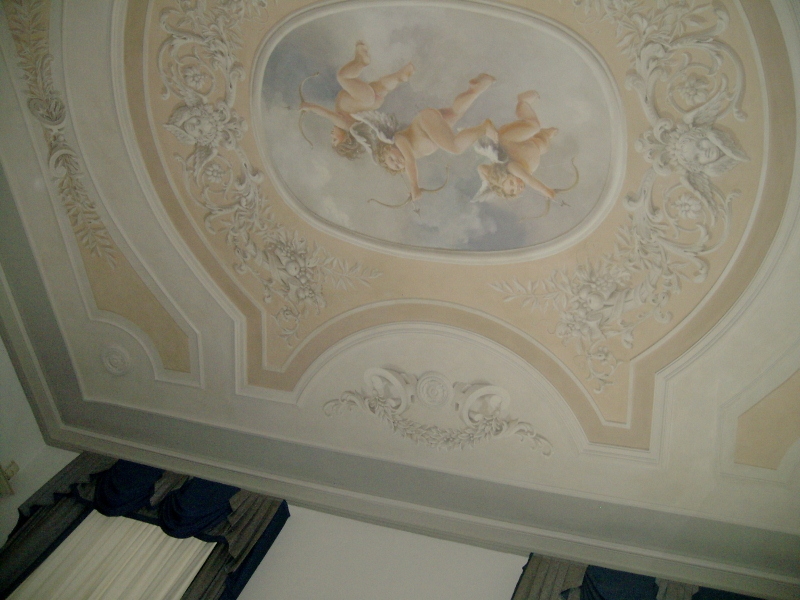 Soffitto A Volta Affrescato : Officine creative vittore: un soffitto affrescato come quelli di una