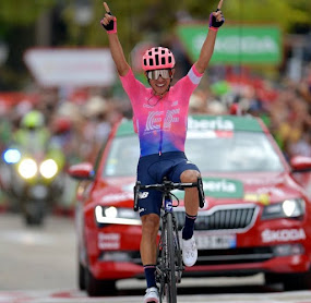Espectacular victoria de Sergio Higuita en la etapa 18 de la Vuelta a España