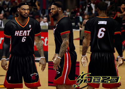 NBA 2K14 Miami Heat Sleeved Uniform Mod