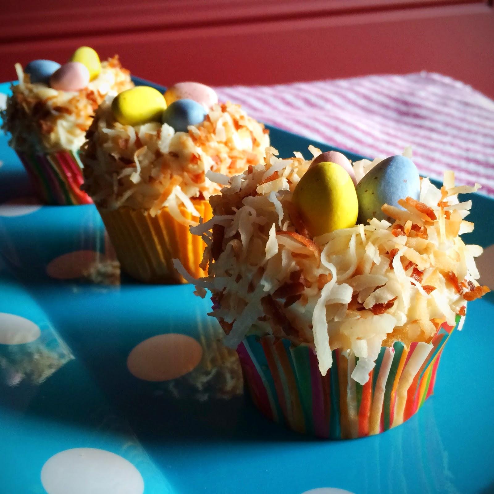 :: kraftykym ::: coconut nest cupcakes