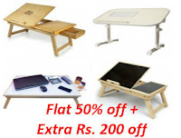 Buy Multipurpose Laptop Table With 2 USB Fans at Rs. 799 only.