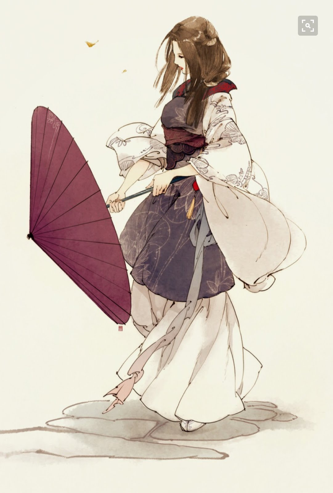 Chun Sik Sik and her umbrella