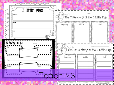 ... Pigs and The True Story of the 3 Little Pigs. A 5 W's + H printable is