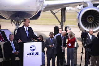 EADS CEO Tom Enders at the Airbus US ground-breaking ceremony