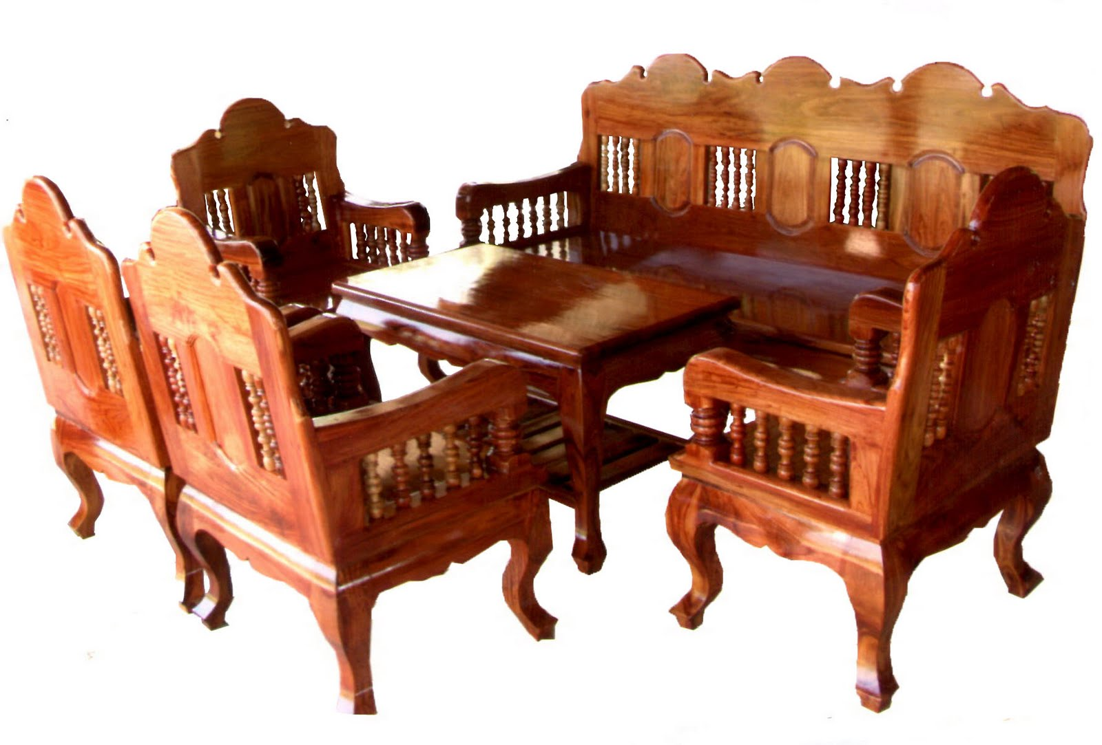 Thailand Carved Furniture Picture Record