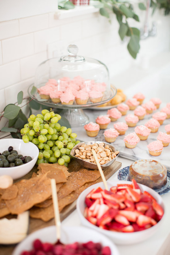 Baby shower delicacies via Jen Lauren Grant.