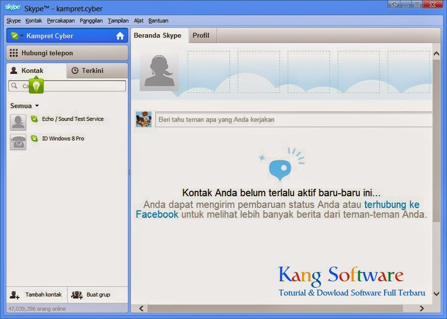 Download aplikasi video chat gratis di laptop Free Download Skype 6.16.0.105 Full Version Terbaru