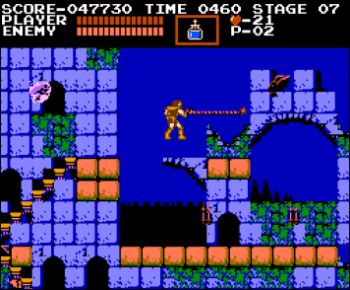 A screenshot from Castlevania