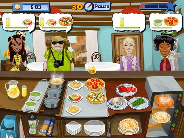 لعبة تقديم الوجبات السريعة الشيف السعيد Happy Chef 2