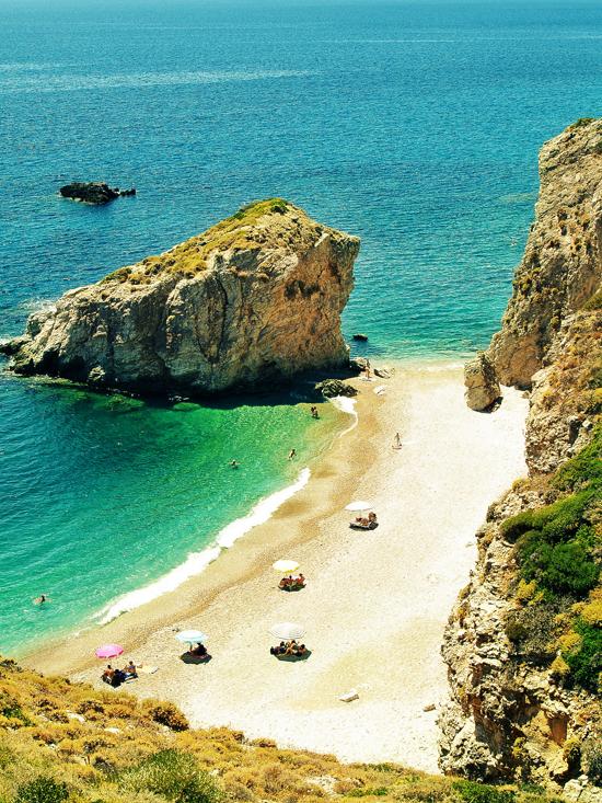 Beautiful beaches in Greece