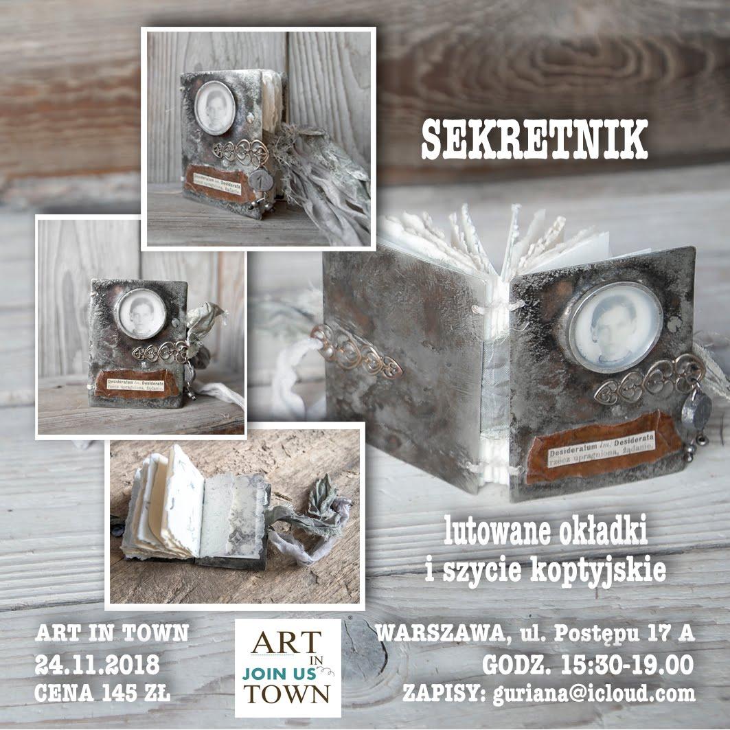 ART in TOWN Warszawa metalowy SEKRETNIK