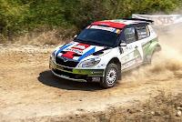 Andreas Mikkelsen si Ola Floene - Skoda Fabia S2000 - Raliul Sibiului 2012 - etapa in Intercontinental Rally Challenge