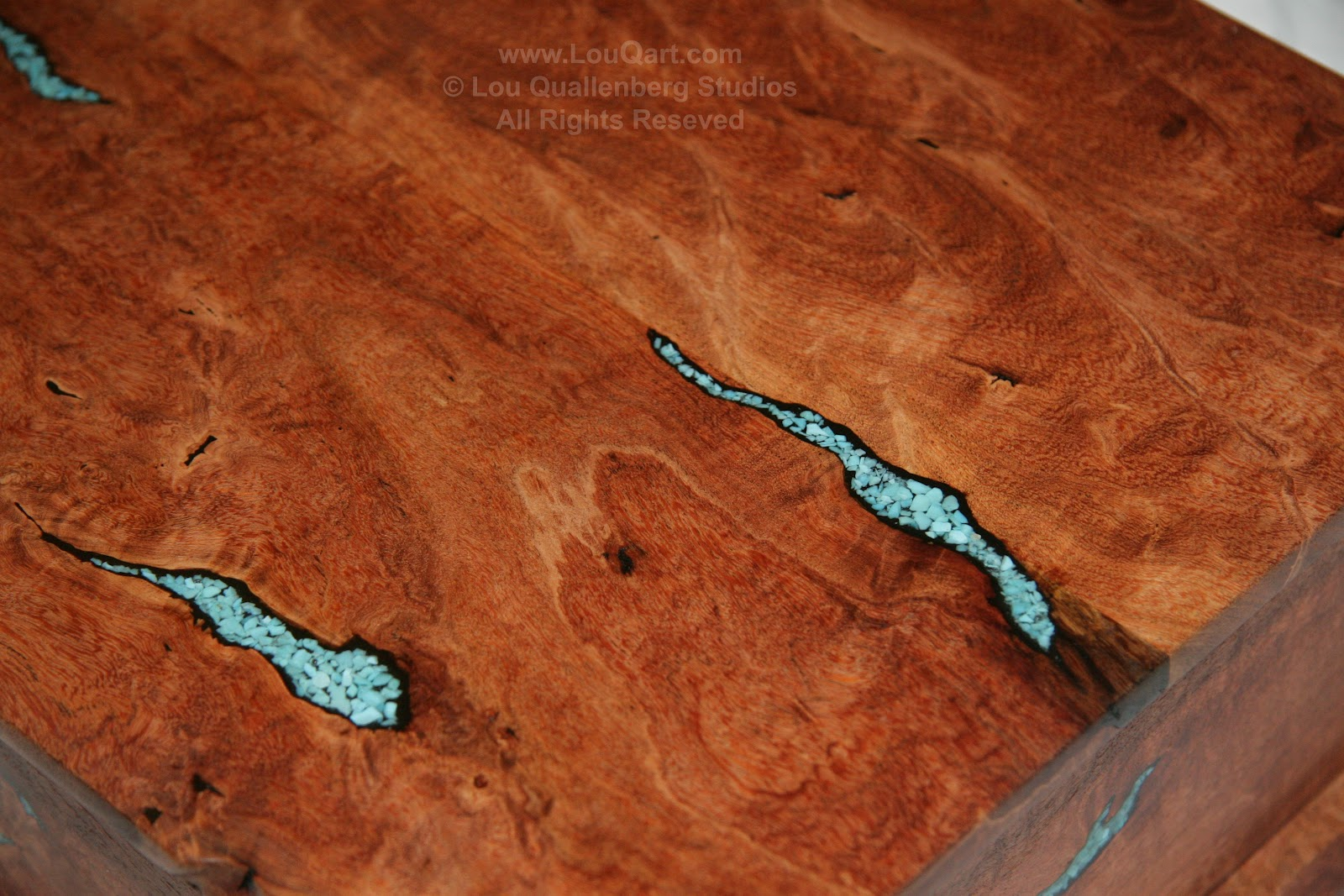 Turquoise wood filler