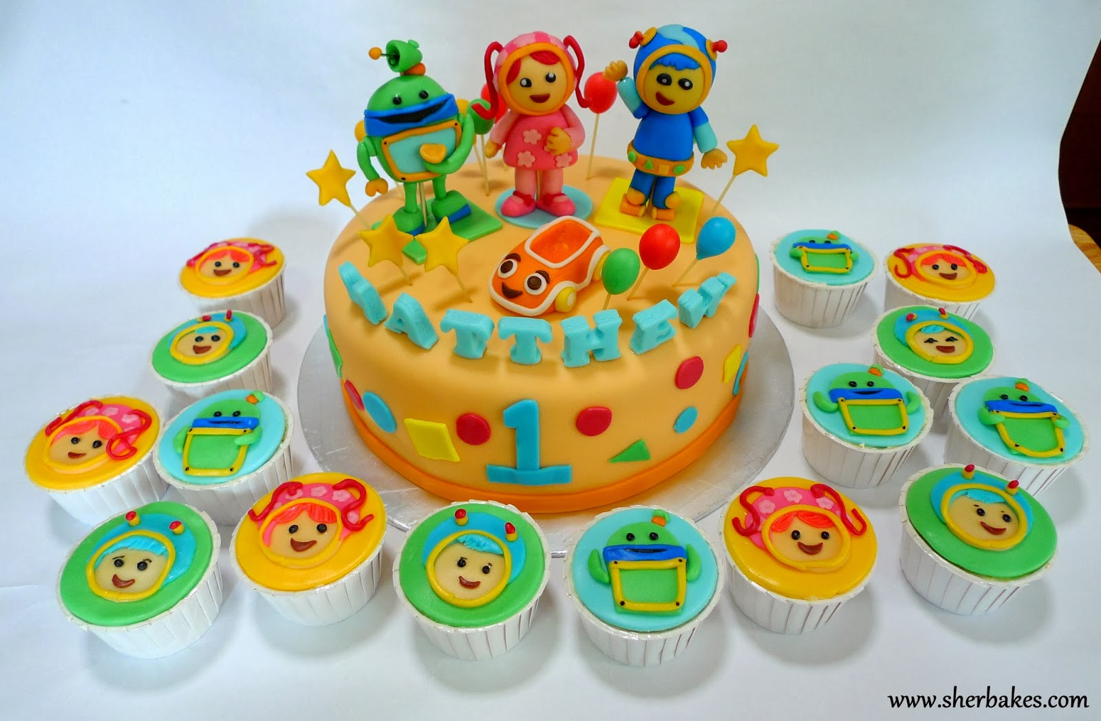 Team Umizoomi Cake and CupcakesTeam Umizoomi Cake