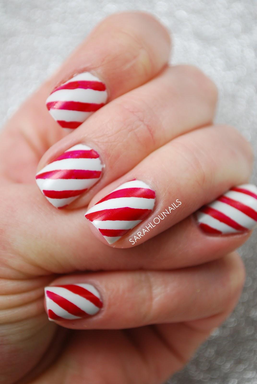 sarah lou nails candy cane nails