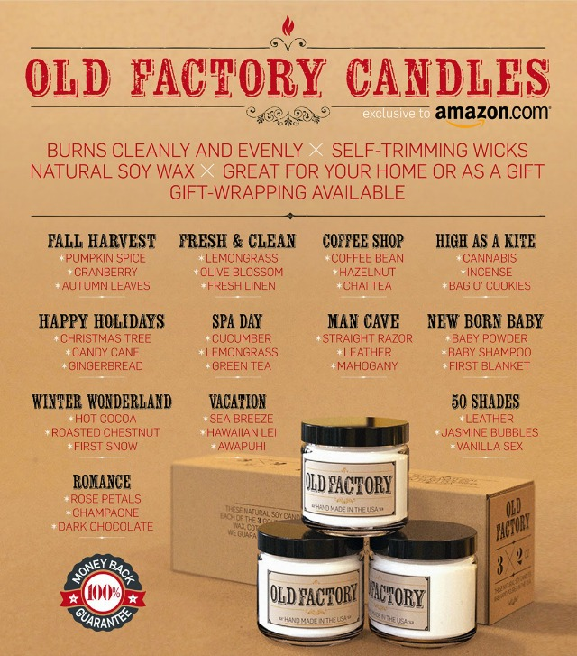 Old Factory Candles gift set options scent sets