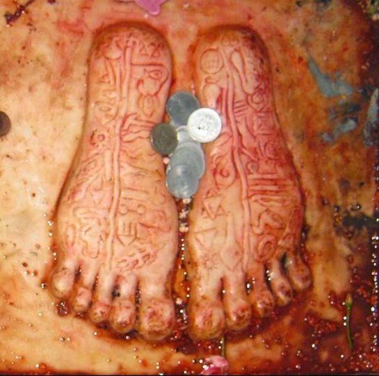 Footprints of Rama at Ramchaura Mandir Temple Hajipur Bihar