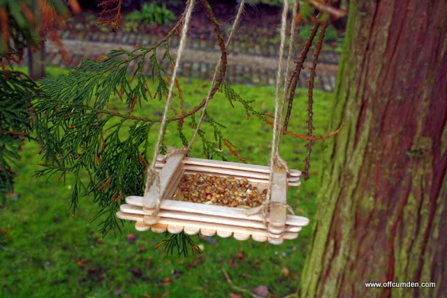 Home made bird feeder