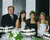 Davi, Luciana e filhas