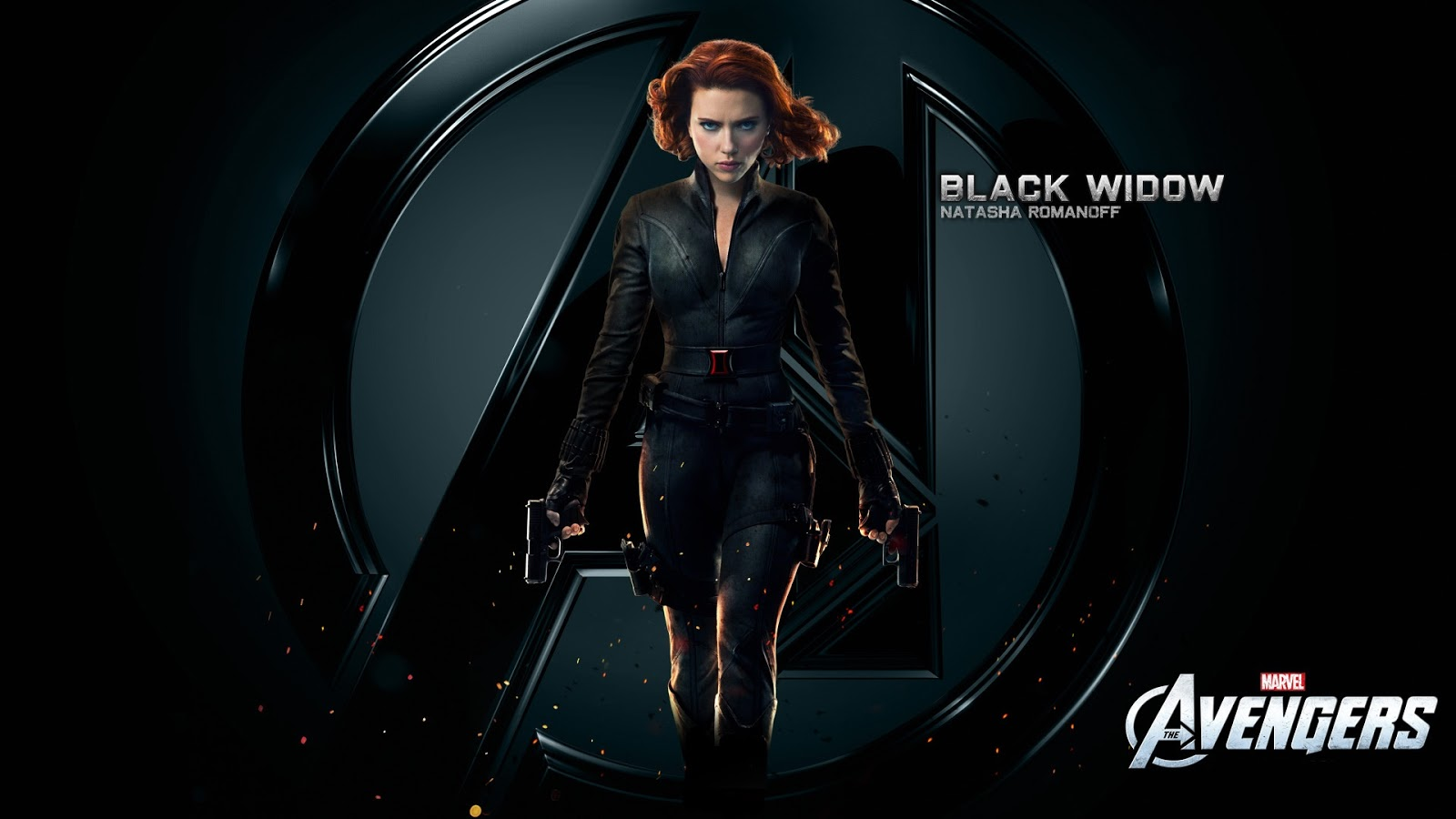 Black Widow Natasha Romanoff in Avengers Wallpaper HD