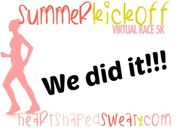 Summer Kickoff Virtual 5K, Virtual 5K, Heart Shaped Sweat Virtual 5K
