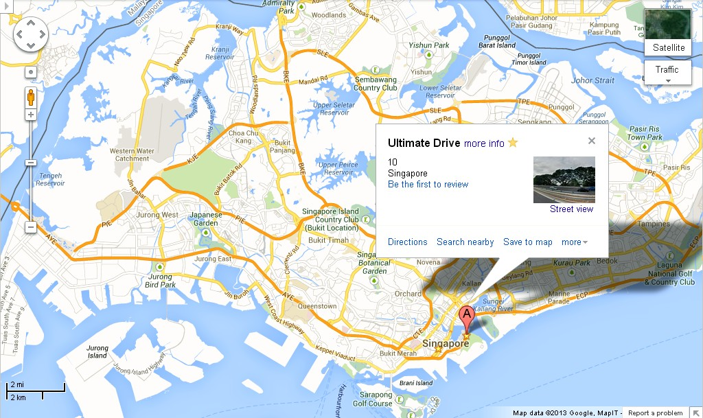 Singapore Ultimate Drive Location Map Alexandra Meier